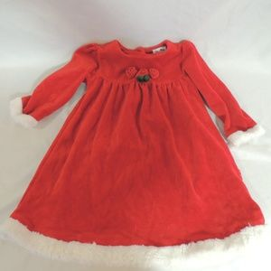 Le Top Christmas Dress girls size 24 mos